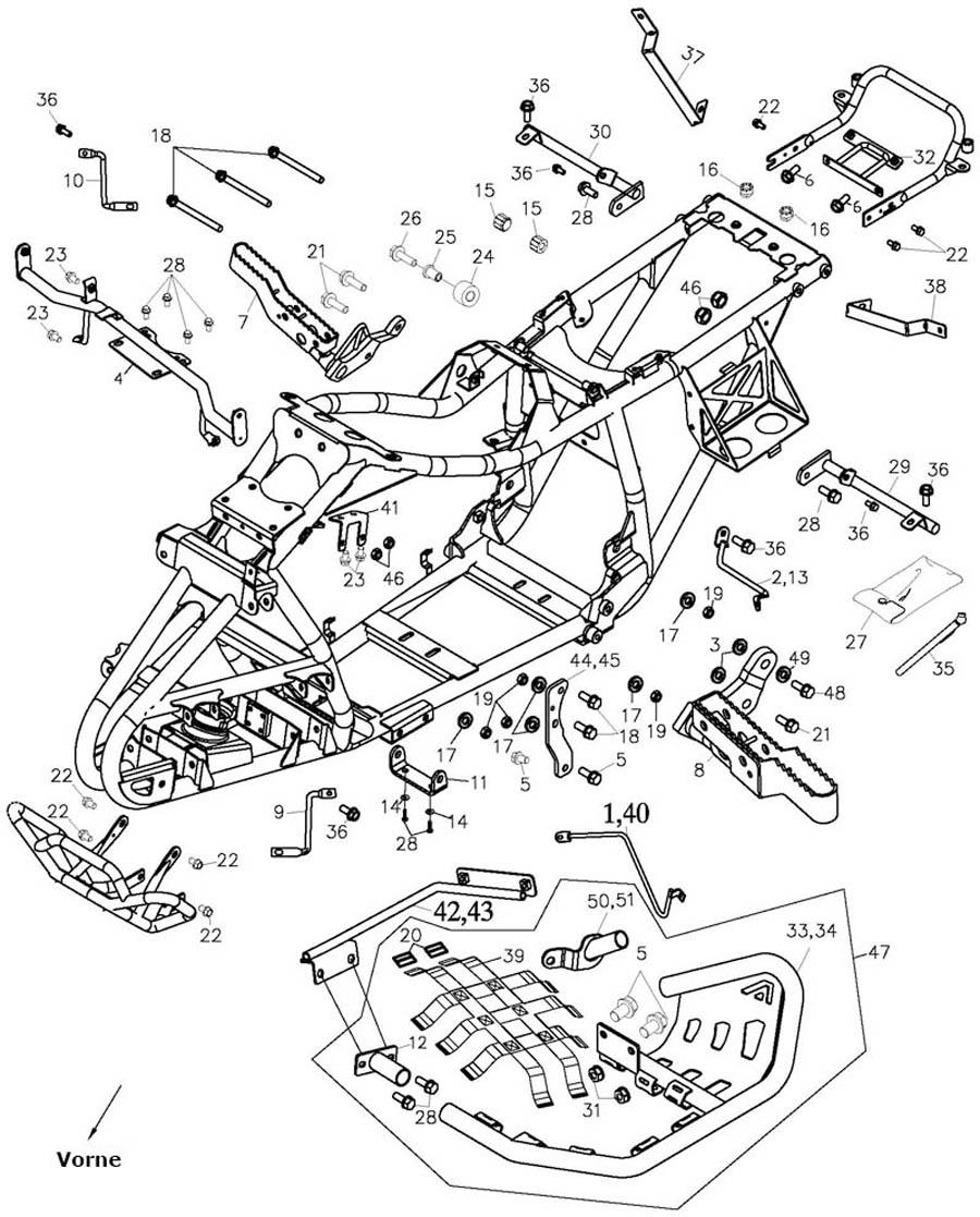 Buggycity - Schraube auch für Nerf Bars 8*16,Anbauteile Rahmen, Adly ...